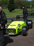 Bright yellow Caterham - the photo does not do it justice.  It is VERY bright.